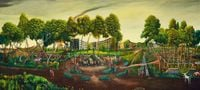 The Terrain under Catharsis by Vinod Balak contemporary artwork painting