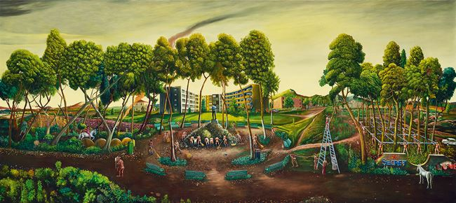 The Terrain under Catharsis by Vinod Balak contemporary artwork