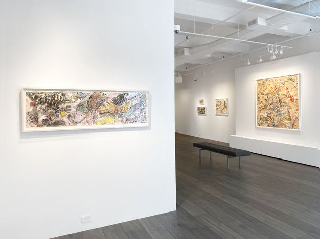 Exhibition view: Knox Martin, Homage to Goya, Hollis Taggart, New York (8 July–13 August 2021). Courtesy Hollis Taggart.