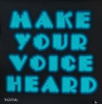 Make Your Voice Heard (Turquoise) by Ben Eine contemporary artwork print