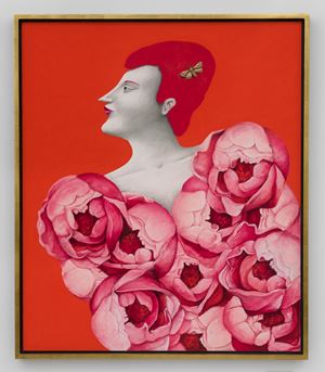 Portrait with Roses by Nicolas Party contemporary artwork