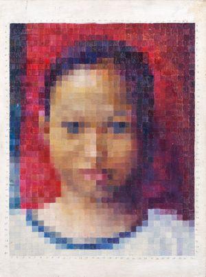 Self Portrait in Pixel by Marina Cruz contemporary artwork