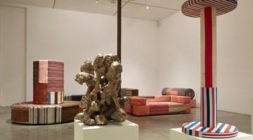 Contemporary art exhibition, Tal R, Chimney school of sculpture at Victoria Miro, Wharf Road, London
