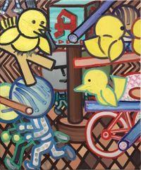 N-Platz (Nolli) by Marcus Weber contemporary artwork painting