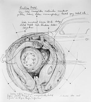 Beetle Sphere - Study 3 by Ichwan Noor contemporary artwork