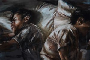 SLEEPLESSNESS by Chen Han contemporary artwork painting