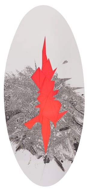 Red Shard by Zhu Rixin contemporary artwork