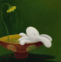 Nine days of therapeutic tea ceremony-- day 3 by Benrei Huang contemporary artwork painting