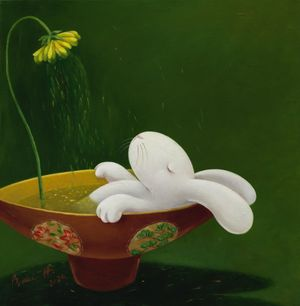 Nine days of therapeutic tea ceremony-- day 3 by Benrei Huang contemporary artwork