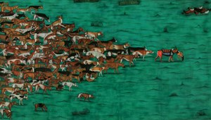The Piper Dog and Hundred Others by Vinod Balak contemporary artwork