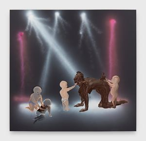 Shit Mom (Disco Babies) by Tala Madani contemporary artwork