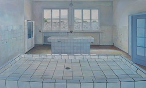 Concentration Camp - Tile Platform by Lu Liang contemporary artwork