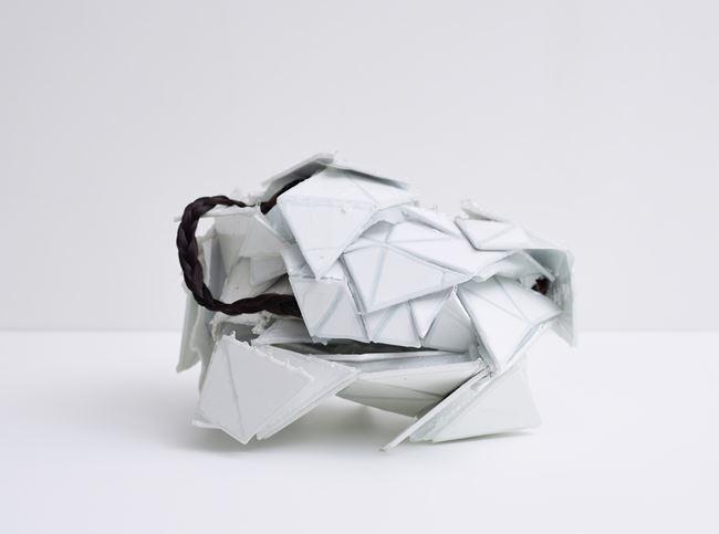 Angel wing calcite with braids by Joe Zorrilla contemporary artwork