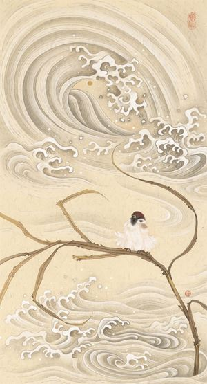 Blowing in the Wind by Cheuk Ka-Wai, Cherie contemporary artwork