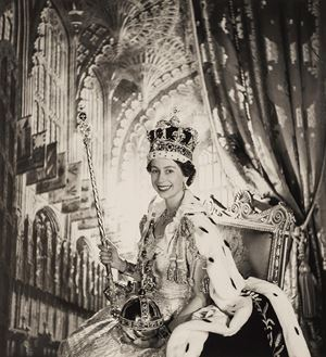 Her Majesty the Queen, Variation on the Official Coronation Portrait by Cecil Beaton contemporary artwork