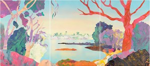 The Frogs - 1971 Point Piper by Kate Shaw contemporary artwork