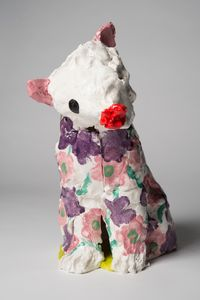 A jaguar: flower state by Pie Rankine contemporary artwork sculpture, ceramics
