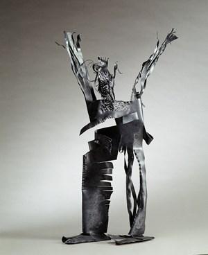 Man Raising Hands 舉雙手的人 by Hsia Yan contemporary artwork