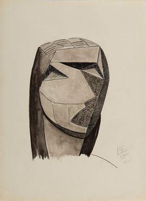 Tête cubiste by Julio Gonzales contemporary artwork