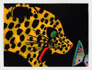 Leo B Fly by Ellen Berkenblit contemporary artwork drawing