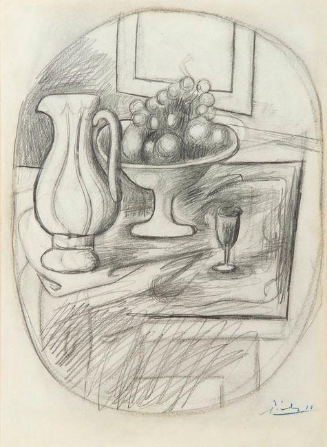 Pot et compotier avec fruits by Pablo Picasso contemporary artwork