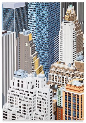 Midtown, NYC by Daniel Rich contemporary artwork