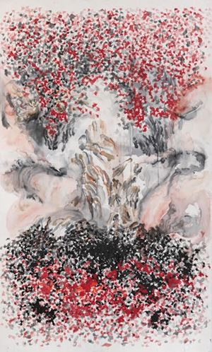 Yin Yang by Shahzia Sikander contemporary artwork
