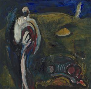 百里焦饑 1989 Series 4-The Vast Barren Earth by Wei-Jane Chir contemporary artwork