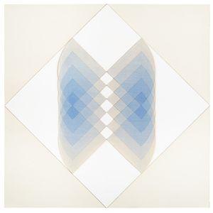 Transparente Schichtung von Viertelkreisflächen by Karl-Heinz Adler contemporary artwork