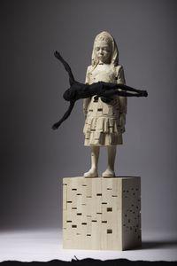 Leave Me Alone by Gehard Demetz contemporary artwork sculpture