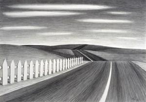 Picket Landscape by Robin Lowe contemporary artwork