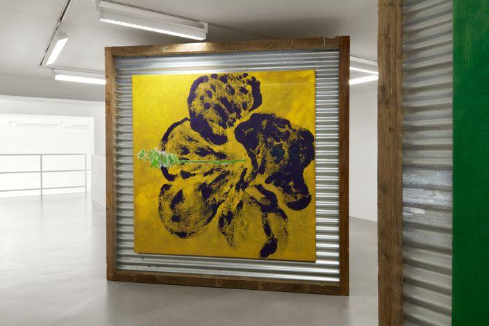 Exhibition view: Alvaro Barrington,Wave Your Flags II, Sadie Coles HQ, Davies Street, London (20 July–11 September 2021). Courtesy Sadie Coles HQ, London.