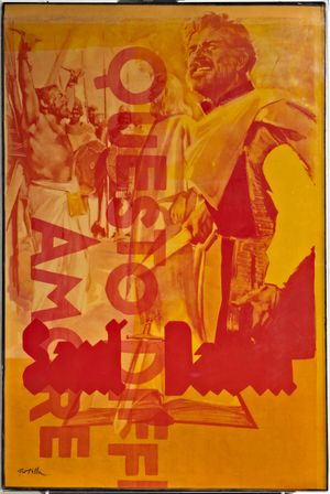 Questo Difficile Amore by Mimmo Rotella contemporary artwork painting, mixed media