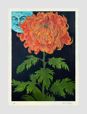 I know a flower of evil by Marcel Dzama contemporary artwork