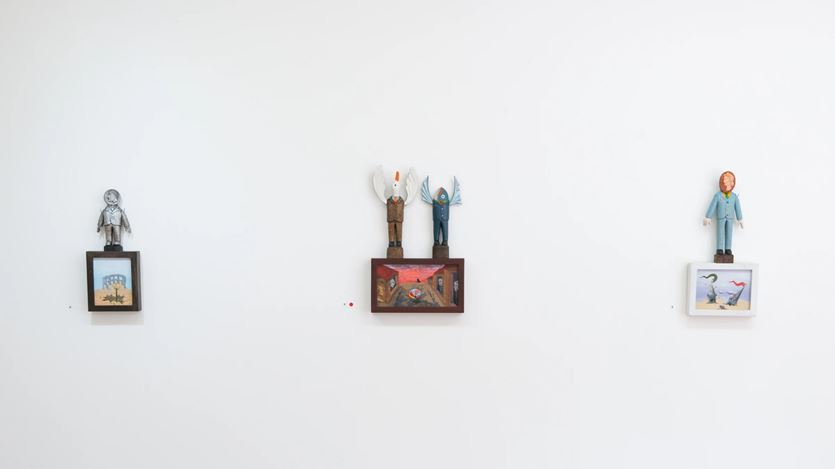 Exhibition view: Harry Watson,Ancient Souls Today: Our Lizard Brain in Contemporary Society, PAGE Galleries, Wellington (04 February–27 February 2021). Courtesy PAGE Galleries.