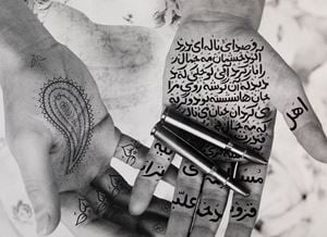 Moon Song, from Women of Allah series by Shirin Neshat contemporary artwork