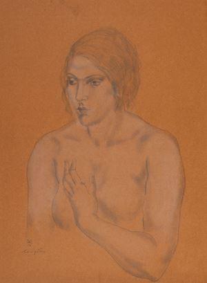 Femme en buste by Léonard Tsuguharu Foujita contemporary artwork