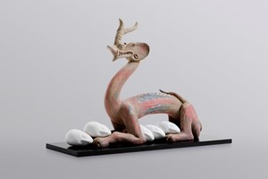 Eternity-Six Dynasties Period Painted Earthenware Dragon, Sleeping Muse by XU ZHEN® contemporary artwork