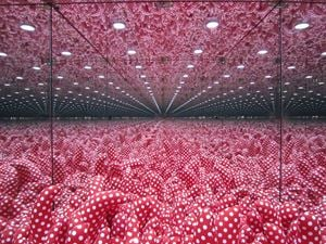 Mirrored room by Yayoi Kusama contemporary artwork installation