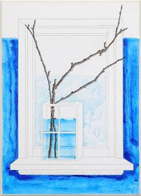 Window Acting as a Vase by Zina Swanson contemporary artwork painting