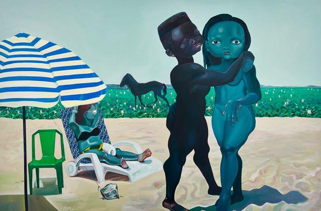 As we were, sad horse by Ndidi Emefiele contemporary artwork
