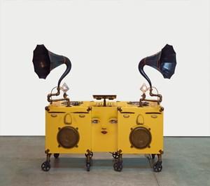 Gramophone by OSGEMEOS contemporary artwork