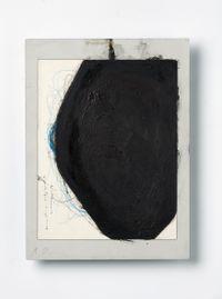 Untitled (Sitzende Figur Überzeichnet) by Arnulf Rainer contemporary artwork mixed media