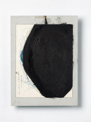 Untitled (Sitzende Figur Überzeichnet) by Arnulf Rainer contemporary artwork