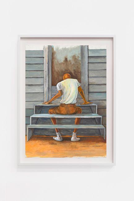 Study for Steps by Ernie Barnes contemporary artwork