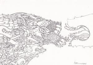 Lion/ Dragon III by Chandraguptha Thenuwara contemporary artwork