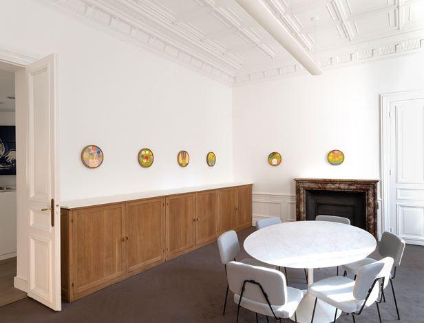 Exhibition view: Etel Adnan, Parler aux fleurs, Galerie Lelong & Co., Paris (22 November 2018–19 January 2019). Courtesy Galerie Lelong & Co., Paris.