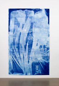 Vorhang Blau 8 by Ulla Von Brandenburg contemporary artwork works on paper