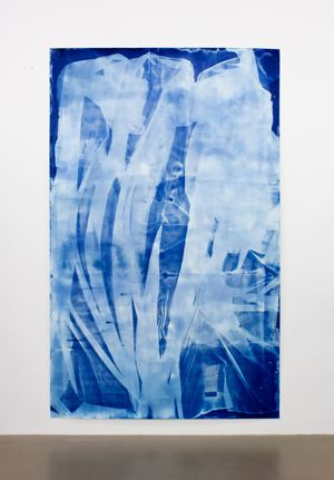 Vorhang Blau 8 by Ulla Von Brandenburg contemporary artwork