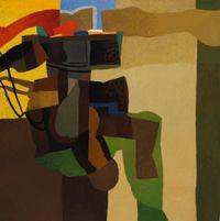 Desert Landscape by Dia Al-Azzawi contemporary artwork painting